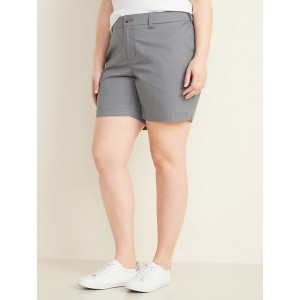 Mid-Rise Plus-Size Everyday Twill Shorts  7-inch inseam