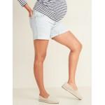 Maternity Full-Panel Boyfriend Jean Shorts  5-inch inseam