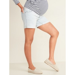 Maternity Full-Panel Boyfriend Jean Shorts  5-inch inseam