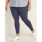 High-Waisted Full-Length Plus-Size Jersey Leggings