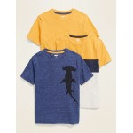 Softest Crew-Neck Tee 3-Pack for Boys