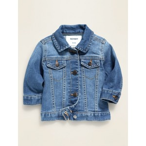 Medium-Wash Jean Jacket for Baby