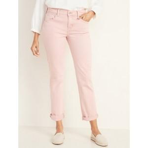 Mid-Rise Boyfriend Straight Jeans for Women