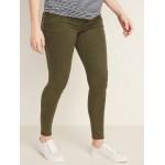 Maternity Premium Full-Panel Rockstar Sateen Super Skinny Jeans