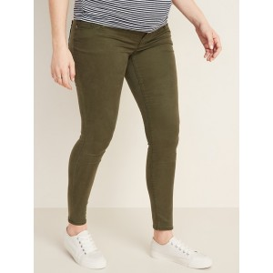 Maternity Premium Full-Panel Rockstar Sateen Super Skinny Jeans
