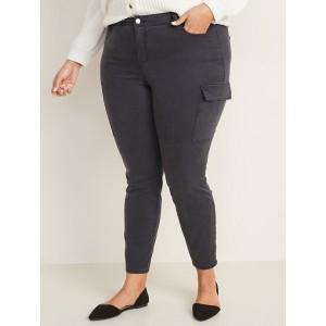 High-Waisted Secret-Slim Pockets Rockstar Sateen Plus-Size Cargo Pants