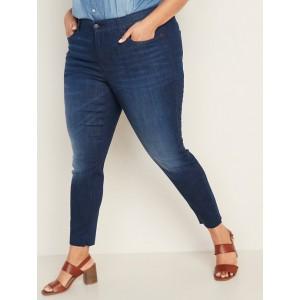 High-Waisted Secret-Slim Pockets + Waistband Rockstar Super Skinny Plus-Size Jeans
