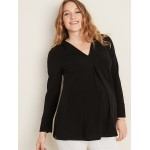 Maternity Pleated-Front Tunic
