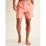 Printed Swim Trunks for Men  6-inch inseam