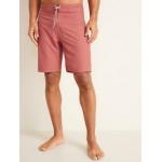 Solid-Color Board Shorts for Men  10-inch inseam