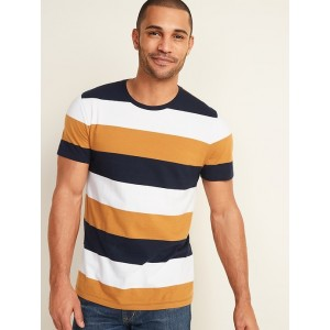 Soft-Washed Bold-Stripe Crew-Neck Tee