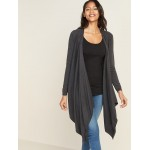 Maternity Extra-Long Nursing Open-Front Sweater