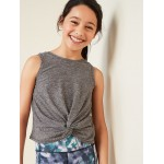 Go-Dry Twist-Front High-Waist Tank for Girls