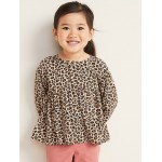 Printed Babydoll Blouse for Toddler Girls