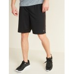 Go-Dry Mesh Neon-Piping Performance Shorts for Men  9-inch inseam