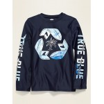 Graphic Long-Sleeve Rashguard Swim Top for Boys