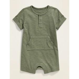 Slub-Knit Jersey Romper for Baby