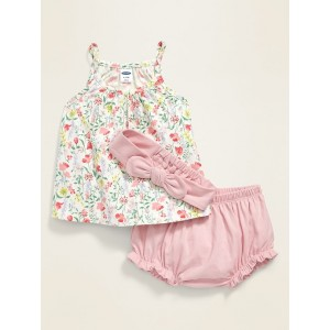 3-Piece Top, Bloomers & Headband Set for Baby