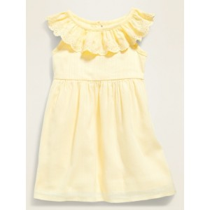 Ruffle-Trim Cinched-Waist Dress for Baby