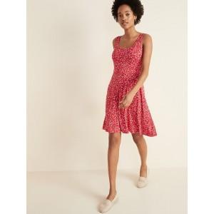 Sleeveless Fit & Flare Jersey Dress for Women