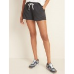 French Terry Drawstring Shorts for Women  3-inch inseam