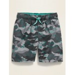Camo-Print Swim Trunks for Toddler Boys