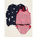 Rashguard & Tankini 3-Piece Swim Set for Toddler Girls
