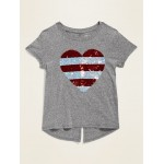 Graphic Split-Back Tee for Girls