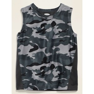 Moisture-Wicking Muscle Tank Top for Toddler Boys