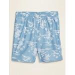 Printed Swim Trunks for Men  8-inch inseam
