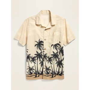 Printed Built-In Flex Camp Shirt for Boys