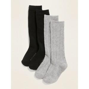Knee-High Uniform Socks 2-Pack for Toddler Girls