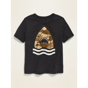 Visual-Effects Graphic Slub-Knit Tee for Toddler Boys