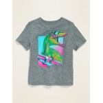 Textured Dinosaur Graphic Tee for Toddler Boys