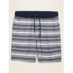 French Terry Baja-Stripe Jogger Shorts for Men  7.5-inch inseam