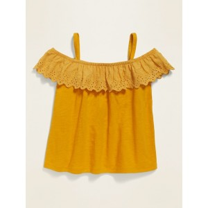 Off-the-Shoulder Ruffle-Trim Top for Toddler Girls