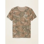 Soft-Washed Graphic Patterned Tee for Men