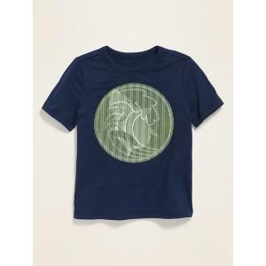 Shark Holographic Slub-Knit Tee for Toddler Boys