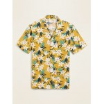 Relaxed-Fit Printed Short-Sleeve Camp Shirt for Men