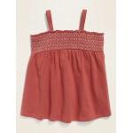 Smocked Sleeveless Top for Toddler Girls