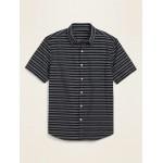 Textured-Dobby Short-Sleeve Shirt for Men
