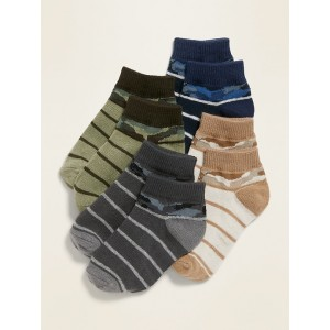 Camo-Print Ankle Socks 4-Pack for Toddler & Baby