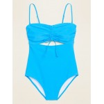 Convertible Bandeau One-Piece Swimsuit for Women