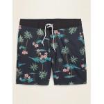 Patterned Built-In Flex Board Shorts for Men  8-inch inseam