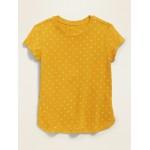 Printed Tulip-Hem Tunic Tee for Toddler Girls