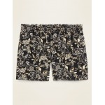 High-Waisted Printed Soft-Woven Plus-Size Shorts  7-inch inseam
