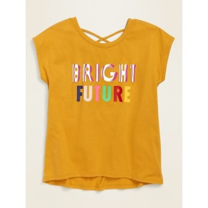 Embellished Graphic Strappy Tunic Tee for Girls