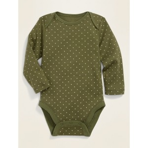 Printed Long-Sleeve Rib-Knit Bodysuit for Baby