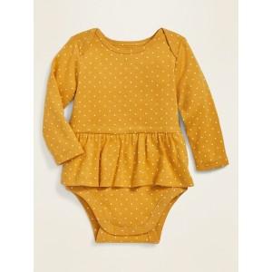 Long-Sleeve Peplum-Hem Bodysuit for Baby