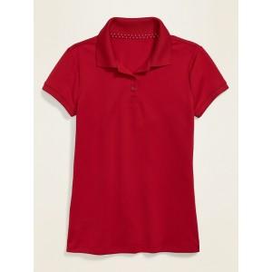 Uniform Moisture-Wicking Polo for Girls